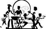 barbecue black and white art