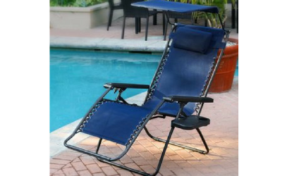 anti gravity chair near swimming pool