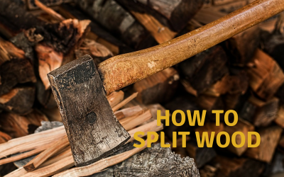 Splitted Wood and Axe
