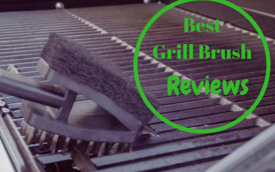 Grill being brushed